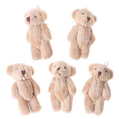 schtier Bär Stofftier Plüschtiere Spielzeug Kuscheltier,Baumwolle,7X4X4cm,Geschenke für Kinder Freunde (Hellbraun) ()