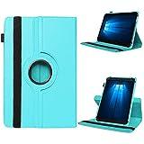 UC-Express Odys Connect 7 Pro Tasche Tablet Hülle Cover Case Schutzhülle 360° Drehbar Etui, Farben:Hellblau