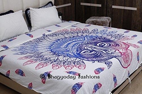 Indian handgefertigt Baumwolle afrikanischen Tiger Mandala Twin Size Bettbezug-Set Ethnic Tröster Bezug Betten