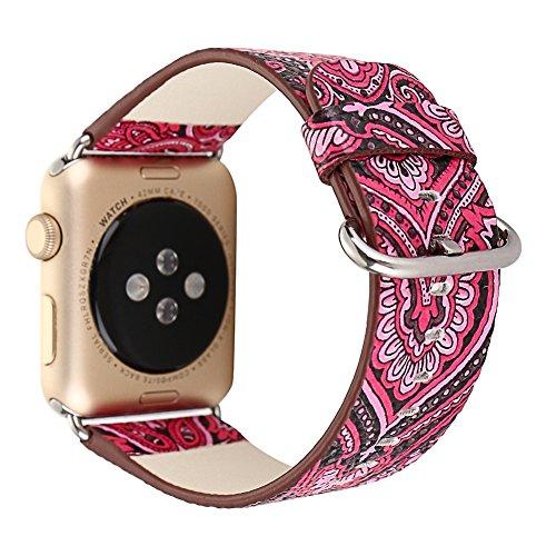 Apple Watch ArmBand 42mm mit Metallschließe Weiches Leder Exotic Style Uhrenarmband für apple watch Series 3/2/1