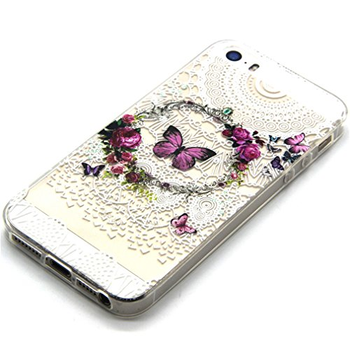 A9H iPhone 6 6S (4,7 Zoll) Hülle Case Handyhülle Schutzhülle Durchsichtig TPU Crystal Clear Case Backcover Bumper Schutzhülle Ultradünn Weich Flexibel Silikonhülle 04A 9A