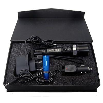 SLIM LINE LED Taschenlampe mit Akku + Ladegerät mit 18W und Zoom- über 250 Lumen - 18 Watt Taschenlampe mit verstellbarer Brennweite - irre hell - direkt in der Steckdose aufladbar von 3S GmbH & Co. KG - Lampenhans.de