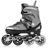 meteor® Kinder Inline Skates Kinderinliner Inlineskates mit Einstellbarer Größe des Schuhs: S M L - S (30-33)- M (34-37)- L (38-41) (L (38-41))