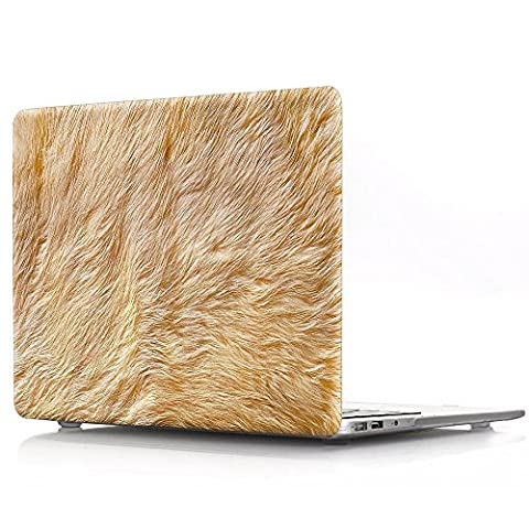 Proelife 2en 1Premium Ultra mince PC Coque rigide Housse de protection et d'une même Motif TPU solide Couvercle de clavier pour MacBook 30,5cm (modèle: A1534) Macbook 12'' Lion Feather-Brown
