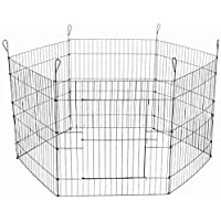 Foodie Puppies Foldable Metal Dog 6 Panel Playpen Fence with Gate for Puppies & Dogs (63cm * 60cm)
