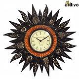Artlivo Embossed Black Sunny Wall Clock ...