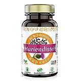 Mariendistel Kapseln hochdosiert vegan - Mariendistel mit 80% Silymarin frei von Zusatzstoffen I 500mg je Mariendistelkapsel I Made in Germany (90 Stück)