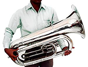 *New* Superbrass Eb Bass TUBA. Traditional British Band Design. 3/4 Size. Chromed Brass. Great Projection.