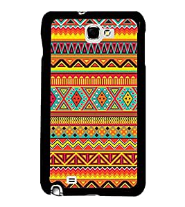 FUSON Ethnic Abstract Background Tribal Designer Back Case Cover for Samsung Galaxy Note 2 :: Samsung Galaxy Note Ii N7100