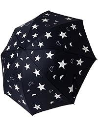 Paraguas automático Lunas y Estrellas color negro exterior