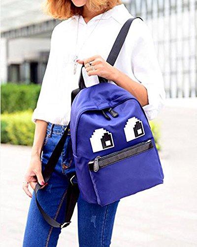 Vintage Sac dos Daypacks Casual College Jeunes filles Femmes Sac à Dos Bleu Bleu