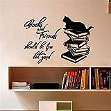 Adesivo Da Parete I Libri E Gli Amici Dovrebbero Essere Pochi Ma I Buoni Citazioni Per La Decorazione Domestica