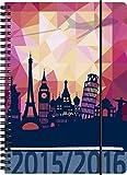 BRUNNEN Taschenkalender Schülerkalender , Kalendarium 2015/16, Travel PP, 2 Seiten = 1 Woche, A5, (107297906)
