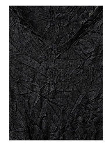 Street One T-Shirt Manches Longues Femme Schwarz (Black 10001)