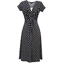 Neuf Femmes Bleu Déco Pois Vintage Rétro WW2 Fille de la campagne 1940s 50s  Pin 632840b67720