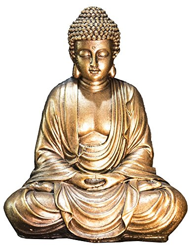 Zen Light Statue Bouddha Or