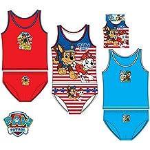 Pack de 3 conjuntos niño (camisetas y slips) 3 diferentes modelos diseño PATRULLA CANINA (Paw Patrol) (Nickelodeon) 100% algodon