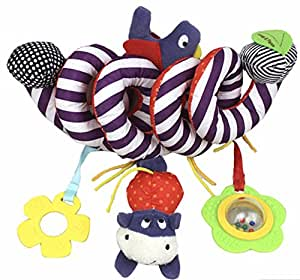Idream Soft Plush Spiral Rattle Hanging Bell For Crib