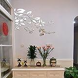 Berrose-Landhausstil Blätter Acryl Wandaufkleber 3D DIY Moderne Aufkleber Dekoration wandtattoos Wandtattoo Sticker Wanddeko Home Decor Schlafzimmer Wohnzimmer Wanddekoration