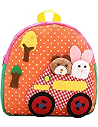 Mchoice Child Backpack Toddler Kid School Bags Kindergaten Cartoon Shoulder Bookbags (Orange)
