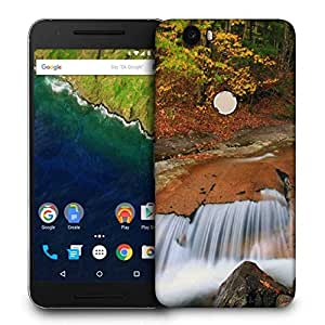 Snoogg Water Flowing Down Printed Protective Phone Back Case Cover For LG Google Nexus 6P