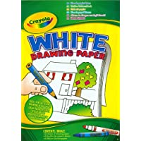 Crayola A4 White Drawing Paper Pad, 60 Sheets