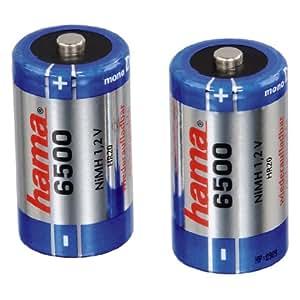 Hama batterie NiMH D Mono 6500 mAh 2er Pack