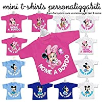 Mini t-shirt magliettina bimbo bimba auto nomi bordo bebè baby on board