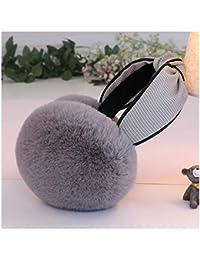 Ohrenschützer CHENGYI Unisex Gehörschutz Mode Hairy Soft Ear Warmers Faltbare Aufbewahrung Warm halten Winter (Farbe : A)