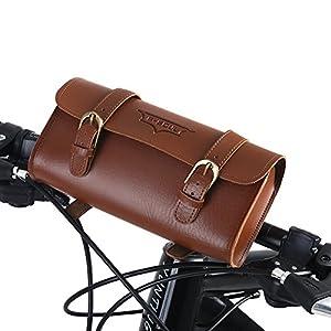 Dioche Bolsa Bajo Sillin, Bolsa bajo Sillin Clasica en Poli Piel Cuero, Bolso de la Silla de Montar del Estilo del Vintage Herramientas para Bicicleta