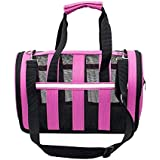 [Sponsored]Sri Adjustable Detachable Shoulder Strap Soft-Sided Travel Pet Carrier For Small Dogs And Cats, Pink