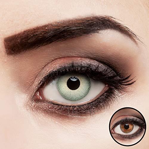 aricona Kontaktlinsen hellgrün ohne Stärke intensiv farbige Jahreslinsen 2 Stück