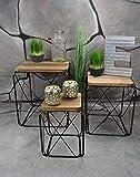 Livitat® Beistelltisch Couchtisch Satztisch 3er Set Metall Industrie Look Vintage Loft Living LV5020
