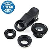 Captcha® Universal 3 In 1 Magic Mobile Lens (Fish Eye, Wide Angle, Macro) Lens Suitable With All Android Or IPhone Devices (1 Year Warranty, Color May Vary)