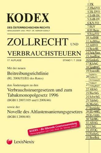 ABOAKTION: PAKET KODEX Zollrecht und Verbrauchsteuern, 17. Aufl. und 18. Aufl.