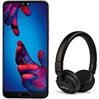 Huawei P20 128GB 4GB RAM UK SIM-Free BUNDLE (includes FREE Veho Headphones) Android 8.1 Smartphone - Black [Amazon Exclusive]