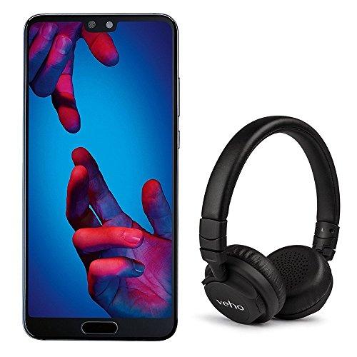 Huawei P20 128GB with FREE Veho Headphones SIM-Free Android 8.1 Smartphone - Black