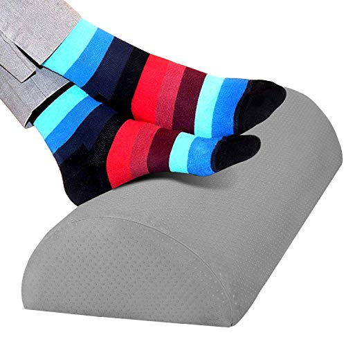 Guiffly Fußstütze unter dem Schreibtisch, ergonomisches Fußstützenkissen mit Schwamm hoher Dichte, Fußkissen für verbesserte Körperhaltung und Stressabbau in Büro und Haushalt (Grau)
