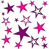 80 Aufkleber Sterne selbstklebend konturgeschnitten als Fensterbild, Wandtattoo Möbelaufkleber...