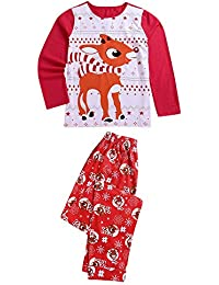 Zolimx Damen Herren Kinder Baby Hirsch T Shirt Tops Bluse Hosen Pyjamas Weihnachten Set Familie Kleidung