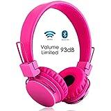 Termichy Drahtlos Bluetooth Kopfhörer für Kinder,Wireless Faltbare Tragbare Headset,On Ear Stereo Kopfhörer mit Shareport Musik-Anteil,Eingebautes Mikrofon für die Freisprechfunktion