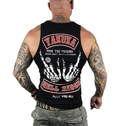 Yakuza Original Herren Hell Rider Tank Top T-Shirt Schwarz