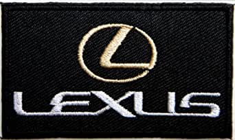 "LEXUS Car Polo Embroidered Sew iron on Patch Dimensions:ca 2.75""Width x 1.5""Height Ecusson brode Ecussons Imprimes Ecussons Thermocollants Broderie Sur Vetement Ecusson Sold SSLINK"