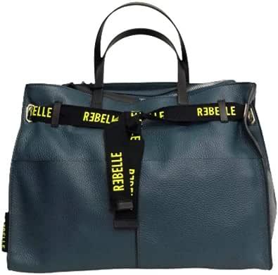 REBELLE Borsa Made in Italy dafhne Handbag in Pelle Petrol.