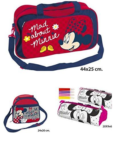 Pack nº 2 Minnie Bolsa Deporte + Neceser + Portatodo