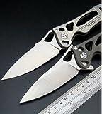 Coltello da tasca con manico in acciaio inox cuscinetto a sfera flipper coltello pieghevole titanium tempo libero 26239
