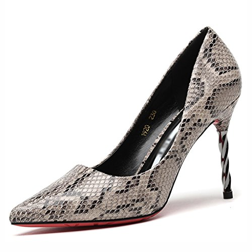 Chaussures femme HWF Chaussures Pointues Seules Talons Stiletto Sexy Femme Discothèque Mince