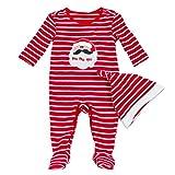 Unbekannt Bom Bom Baby Mädchen Jungen Christmas Strampler Schlafanzug Pyjama mit Hut
