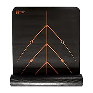 TEGO Stance Truly Reversible Mat Black with Orange GuideAlign - 5mm Thick Comes with Mat Holder Bag