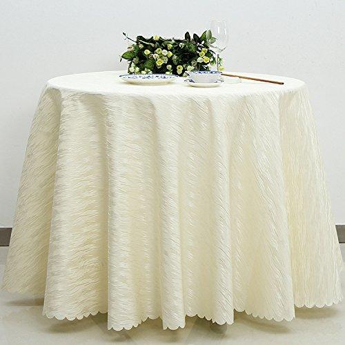 Taboeoe Alte Twill Hochzeit, Tischdecke, Tischdecke, Hotel Supplies, Cremefarbene, Runde (Duck Supplies Party Daisy)